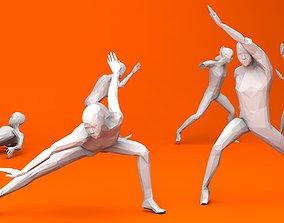 3D asset Kung Fu Martial Artists Pack 1