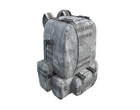 Military Backpack Gray 3D model PBR