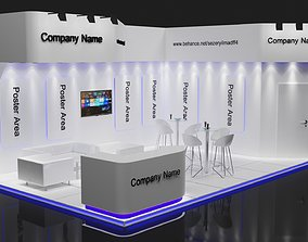Exhibition Stall Size 8 m x 5 m Height 366 cm 3D