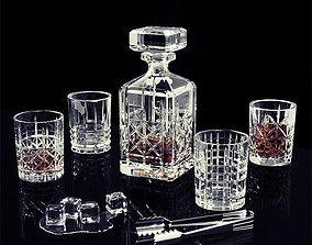 Nachtmann Highland whisky set 3D model vodka