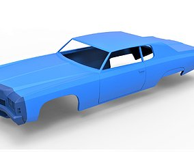 3D printable model Diecast shell Oldschool car Scale 1 to