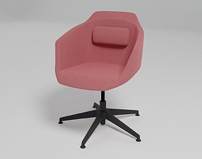 ULTRA - Fabric chair with 5-spoke base with armrests - 3D