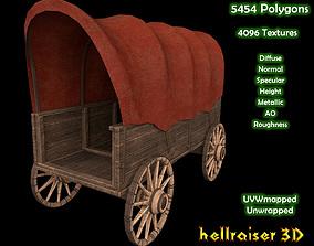 3D model Wooden Wagon - PBR - Textured