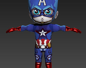 3D model game-ready Captain America