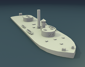 USS Chickasaw 1864 3D printable model