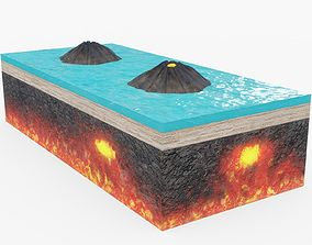 Forming Volcano Visualization Animated 3D model
