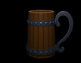 Low Poly Beer Mug 2 3D model