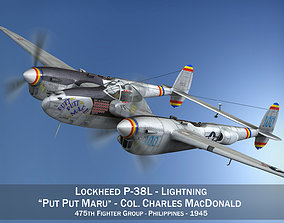 3D model Lockheed P-38 Lightning - Put Put Maru
