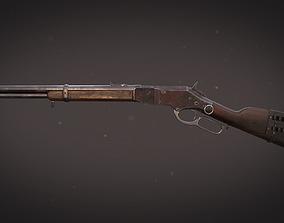 3D asset Western rifle