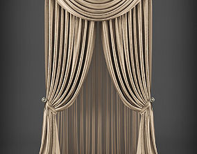 game-ready Curtain 3D model 241