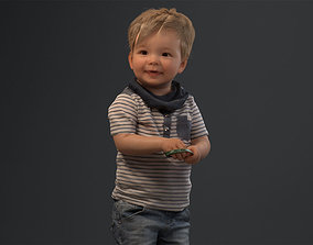00022Pepijn006 Cute Toddler Boy 3D Model