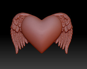 heart with wings 3D printable model