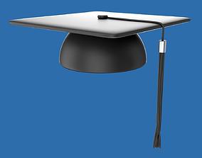 Student graduation cap 3D