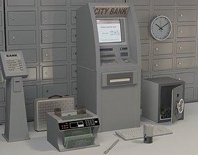 3D Bank Accessories cashmachine