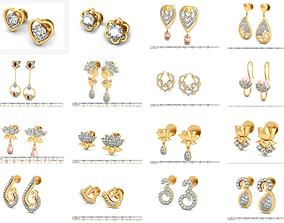 printable 11 Women earrings 3dm stl render