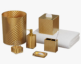 3D Diamond Elite Gold Bath Accents by Sherry Kline