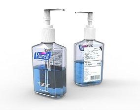 3D Purell Instant Hand Sanitizer 8oz Bottle