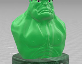 Hulk half body 3D printable model