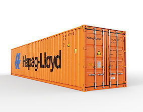 40 feet Hapag-Lloyd standard shipping container 3D model