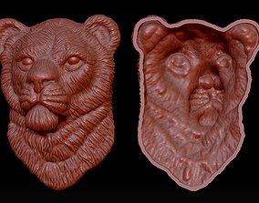 Lion Head Pendant 3D printable model bengal
