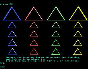 3D asset Low poly arrow 23