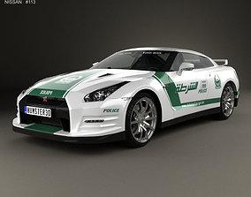 3D Nissan GT-R R35 Police Dubai 2013