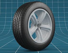 Car tire 01 3D