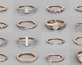 632 Women solitaire ring 3dm stl render detail