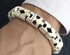 Aztec men bracelet 3D print model