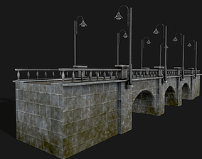 architecture Stone Bridge 3D model