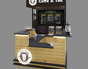 3D model Mini coffee-tea shop Shopping island