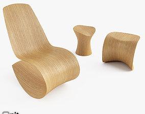 Ode Chairs Savannah Stingray Leaf 3D