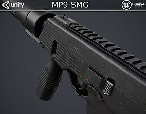 MP9 Submachine Gun 3D model