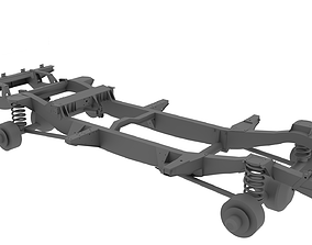 3D landrover chassis and suspension