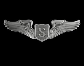 3D model USAAF Service Pilot Wings Badge