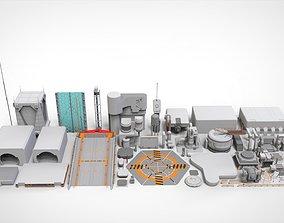 3D Sci-Fi architecture Elements collection 1