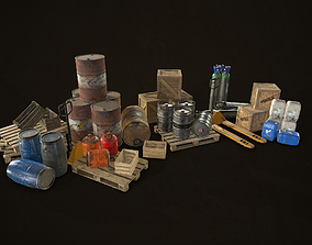Industrial Warehouse Pack Vol 1 3D asset