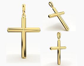 JESUS CROSS GOLD PENDANT 3D print model jesus-pendant