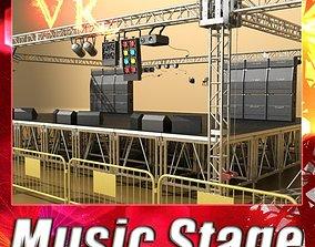 Stage Equipment Mega Pack High Detail 3D model