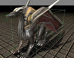 Dragon version 1 Rigged and Game Ready 3D model