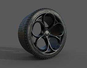 3D printable model Alfa Romeo Rim and Tire