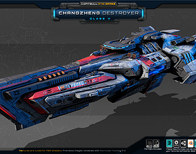 3D model RTS Games - Changzheng Destroyer - Class V