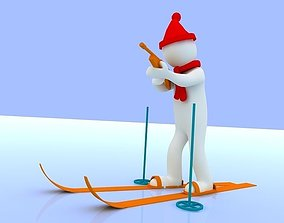 3D asset people with the Winter Olympics