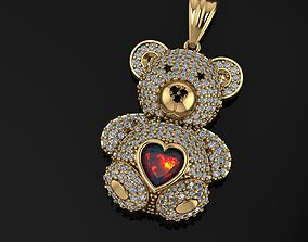 teddy bear necklace 3D printable model