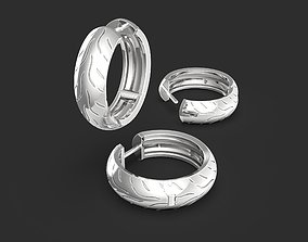 Motorbike tire earring with Dunlop 3D printable model