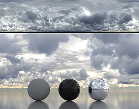 Skydome HDR - Overcast Cloudy Afternoon - 4 3D model