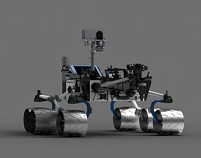 3D Mars probe space space exploration lunar probe