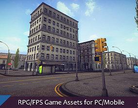 RPG FPS Game Assets for PC Mobile Urban Set v1 3D model