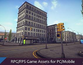 3D model RPG FPS Game Assets for PC Mobile Urban Set v1