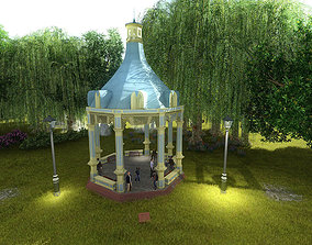3D model Victorian Style Octogonal Gazebo